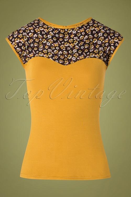 Steady Clothing 32092 Kizzie Top in Mustard 20191018 001W