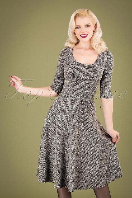 Retuned 29330 Rosie Dress in Black and White 20191007 040M W