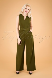 60s Kelly Jumpsuit in Khaki