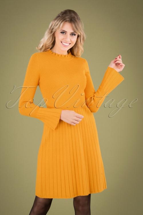 Smashed Lemon 30231 Knit Dress in Mustard 20190903 040MW