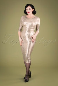 Vintage Chic 31627 Silver Pencil Dress 20190927 040M W