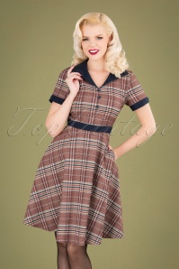 50s The Classic Swing Dress in Multicheck