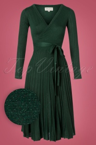 Pepaloves 60s Blanchett Glitter Dress in Green