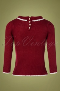 SugarShock 31242 Mirtha Dark Red Christmas Jumper 20191021 0005 W