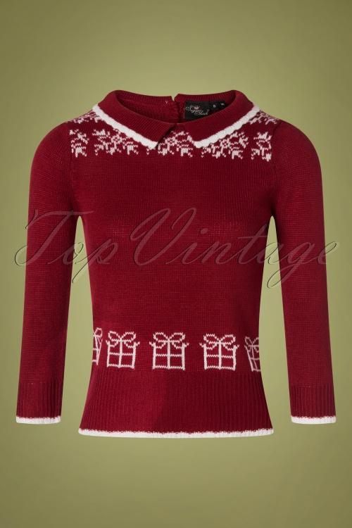 SugarShock 31242 Mirtha Dark Red Christmas Jumper 20191021 0001 W
