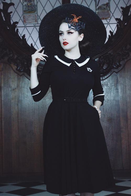 Vixen 30903 VV X Acid Doll Dark Sacrement Dress in Black 20191004 020L