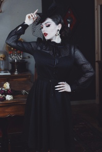 50s VV X Acid Doll Marionette Dress in Black