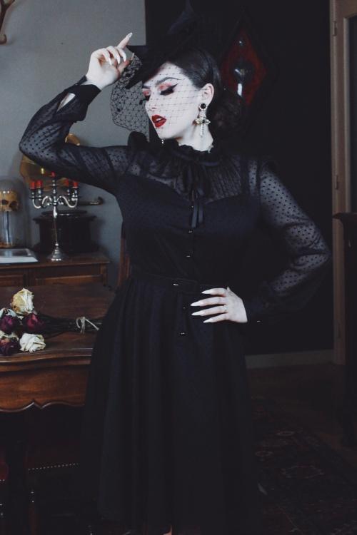 Vixen 30902 VV X Acid Doll Marionette Dress in Black 20191003 020L
