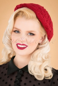 50s America Beret in Red