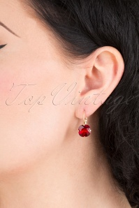 Lovely 31367 Cushion Stone Earring Ruby 041M W