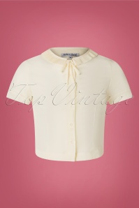 40s Ingrid Blouse in Cream