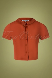 Tatyana 40s Ingrid Blouse in Ginger