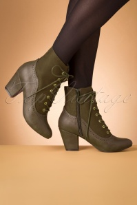 Bait Footwear 31230 Haklu Ankle Olive Bootie Heels 20191015 010 W