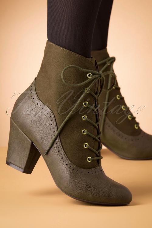 Bait Footwear 31230 Haklu Ankle Olive Bootie Heels 20191015 006 W