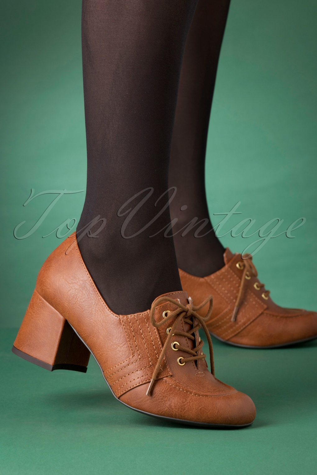 60s Shoes, Boots | 70s Shoes, Platforms, Boots 60s Cider Lace Up Brogues in Tan £68.42 AT vintagedancer.com