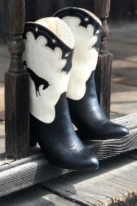 B.A.I.T. 50s Handsdown Boots in Black and Cream