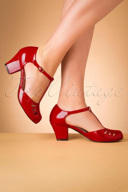 Bait Footwear 31224 Robbie Red Patent T strap 20191015 013 W