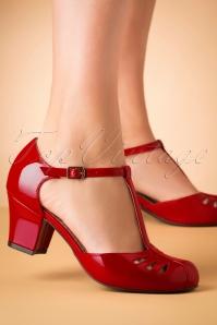 Bait Footwear 31224 Robbie Red Patent T strap 20191015 008 W