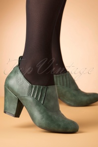 B.A.I.T. 50s Howdy Shoe Bootie in Green