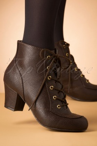 40s Razzle Booties in Chocolate