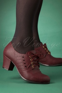 40s Rosie Oxford Shoe Bootie in Wine