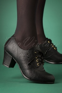 40s Rosie Oxford Shoe Bootie in Black