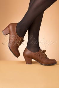 40s Rosie Oxford Shoe Bootie in Tan