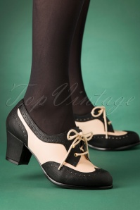40s Remmy Oxford Shoes in Black