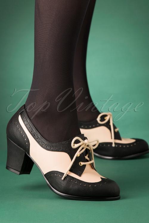 Bait Footwear 31237 Remmy Black White Bootie Heels 20191015 002W