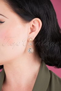 Louche 30063 Merari Crystal Drop Earring Gold 040M W