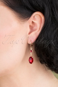 Lovely 31372 OvalStone Ear Ruby 041M W