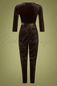 Smashed Lemon 30980 Jumpsuit in Brown Polkadot  20191021 0009W