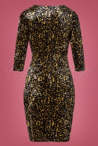 Smashed Lemon 30978 Leopard Pencil Dress 20191021 0007W