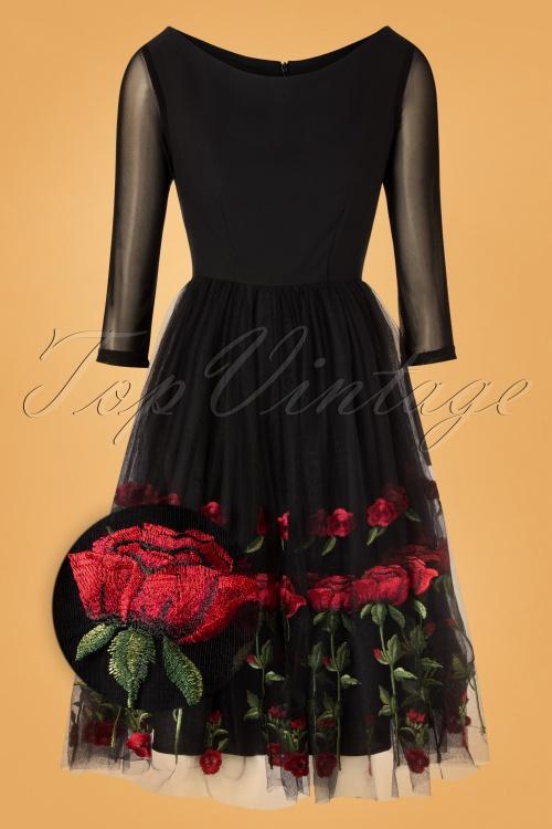 Belsira 32761 Black Roses Swing Dress 20191021 0003Z