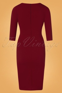 Vintage Chic 31149 Red Pencil Dress 20191021 0008W