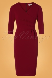 Vintage Chic 31149 Red Pencil Dress 20191021 0002W