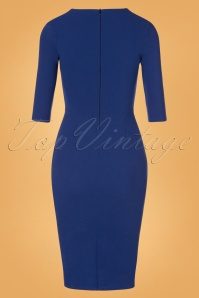 Vintage Chic 32724 50s Madison Royal Blue Dress 20191021 0008W