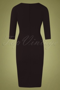 Vintage Chic 31148 Black Pencil Dress 20191021 0008W