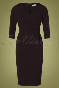 Vintage Chic 31148 Black Pencil Dress 20191021 0002W