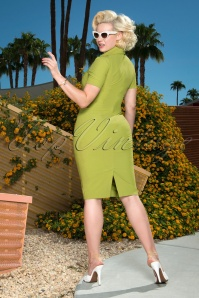 Glamour Bunny 26376 Rita Rae Pencil Dress in Green 121017 0012W
