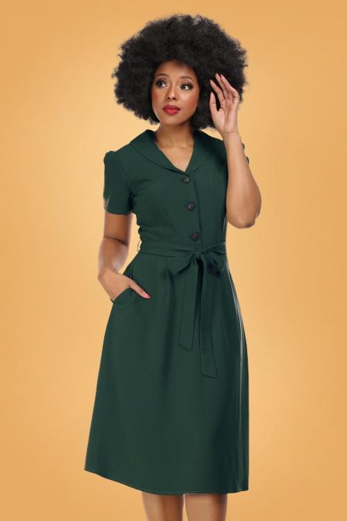 Collectif 29912 hattie 40s flared dress 20190415 020LW