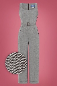 Collectif 29931 Gertrude Herringbone Jumpsuit 20191023 021LZ