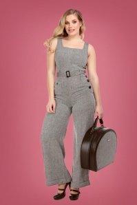 Collectif 29931 Gertrude Herringbone Jumpsuit 20190430 020LW