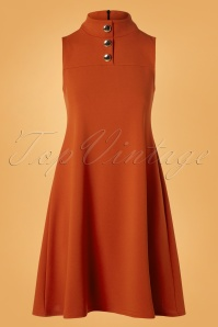 60s Jean A-Line Dress in Cinnamon