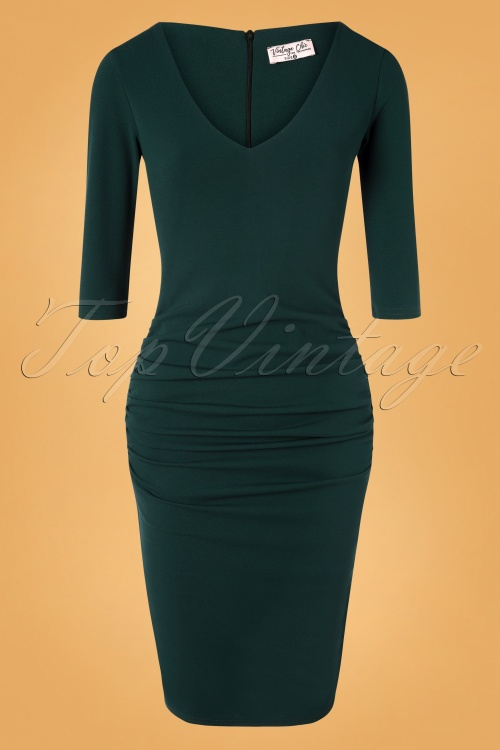Vintage Chic 32038 Pencildress Green Forest 10242019 002W