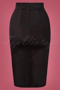 Vintage Chic 31183 Pencilskirt Black 10242019 006W