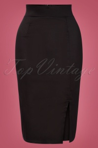 50s Pippa Pencil Skirt in Black
