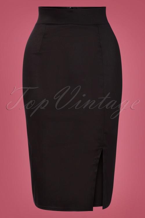 Vintage Chic 31183 Pencilskirt Black 10242019 003W