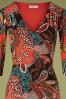 Topvintage Boutique 32881 Pencildress Viscose Nature Orange 10242019 001V