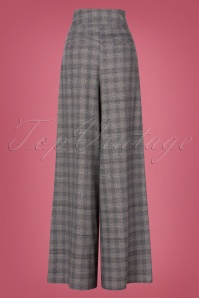 Miss Candyfloss 31035 Trousers Grey Tartan 07112019 000007W